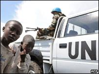 Soldado de la ONU en la Rep�blica Democr�tica del Congo