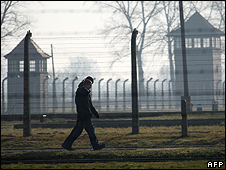 View of Auschwitz perimeter fence (file pic)
