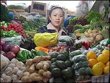 Liu Shuzhen's vegetable stand