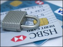Lock and credit cards