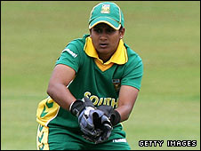 Trisha Chetty is a nimble performer behind the stumps for South Africa