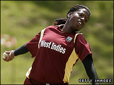 Kirbyina Alexander is a leading member of the West Indies attack