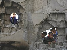 Children in Jabaliya, Gaza (23/02/2009)
