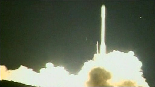The Orbiting Carbon Observatory blasts off