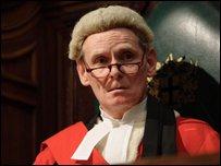 Karl Johnson as judge, Mr Justice Byrne
