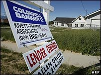 Foreclosure signs in the US
