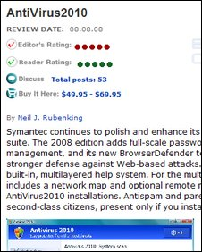 Fake software fake review