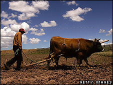 Farmer ploughing a field (Getty Images)