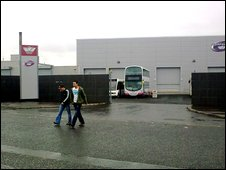 Workers at Wrightbus in Ballymena