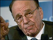 Rupert Murdoch at press conference in Dubai ( 04/08/2008)