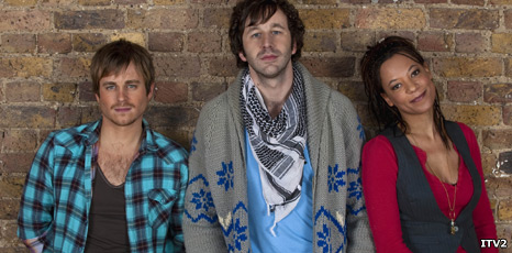 Kevin Bishop, Chris O'Dowd and Nina Sosanya