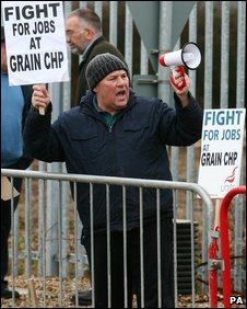 Protest at Isle of Grain