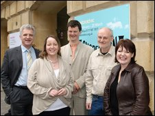 L_R Councillor Simon Cook, Emma Stenning, Tom Morris, Dick Penny, Catherine Johnson