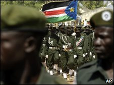 South Sudan army on parade