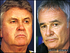 Guus Hiddink and Claudio Ranieri
