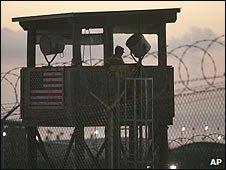 A watchtower at Guantanamo Bay US military camp (file image)