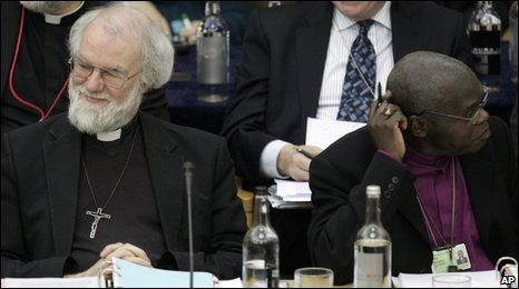 Archbishops John Sentamu and Archbishop Rowan Williams