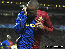 Barcelona striker Thierry Henry