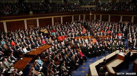 US President Barack Obama addresses Congress
