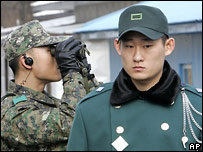 Северокорейские пограничники