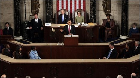 Obama addresses Congress in Washington, 24 Feb