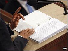 President Obama's script