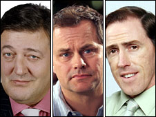 Stephen Fry, Jack Dee and Rob Brydon