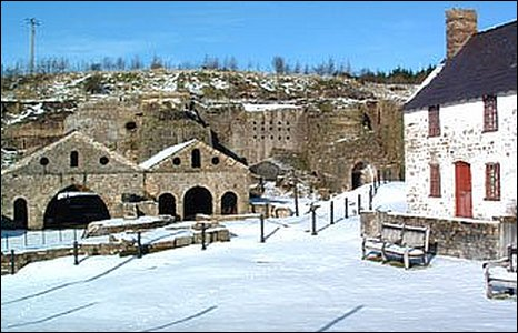 Blaenavon Ironworks in the snow - photo by Fiona Ford.