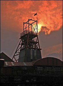 Big Pit at sunset - photo by David Watkins.