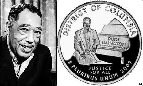 Duke Ellington and the coin bearing his image