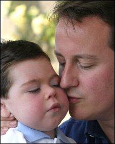 David Cameron and Ivan in May 2004