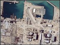 Planta de Bushehr. Foto tomada en 2004