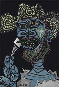 """""""Hombre con sombrero de paja y helado"""", de Pablo Picasso."""