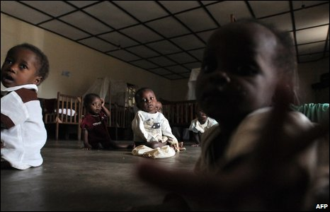 An orphanage in Bunia, north-eastern Democratic Republic of Congo, on 24 February 2009