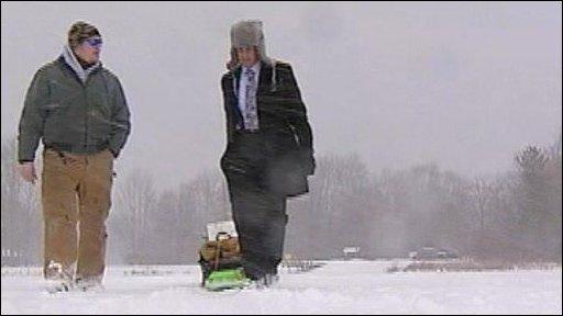 Ethical Man goes ice fishing
