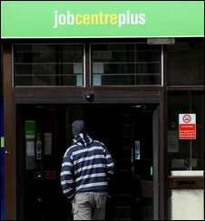 Man entering a job centre