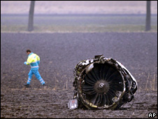 Engine from crashed Turkish Airlines Boeing 737-800