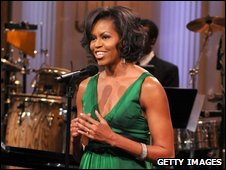 Michelle Obama at the Stevie Wonder evening