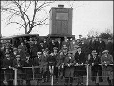 Crowd at Plymouth Albion v St Bartholmews Hospital , 1927