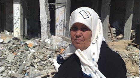 Khadija Saqir in Gaza