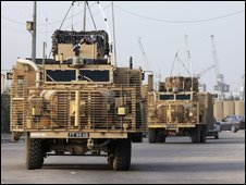 British Army Mastiff armed vehicle
