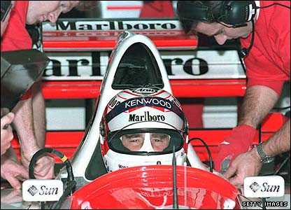 Nigel Mansell in the McLaren in 1995