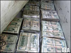 Money seized during Operation Xcellerator. Photo DEA