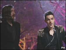 The Killers accept their award