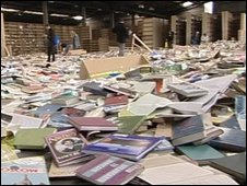 Thousands of books were left in the warehouse
