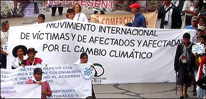 Marcha del Movimiento Centroamericano de Víctimas del Cambio Climático