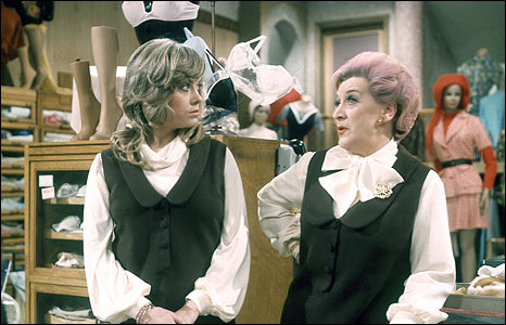 Wendy Richard and Molly Sugden in Are You Being Served?