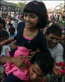 Rubina Ali back home in Mumbai on 26/2/09