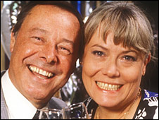 Bill Treacher and Wendy Richard
