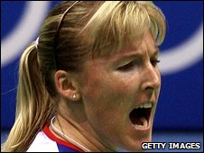 Tracey Hallam in action at the Beijing Olympics